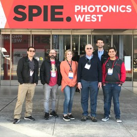 Second-year students in the Laser and Photonics Technology program at Central Carolina Community College attended the 2020 SPIE Photonics West Convention in San Francisco. Previous CCCC Laser graduate Al Delong also attended the convention. Pictured are, left to right: Al Delong, John Brooks, Cassidy Harris, Gary Beasley (Lead Instructor), Xan Bayles, and Angel Gonzalez-Aguilar.