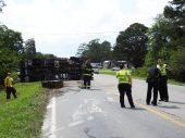 Accident - Utility Truck, US70 E, 06-19-20-5ML