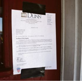 The city posted a notice for residents at Downtown Motor Court that they needed to leave the premises by Sept. 17. Dunn Daily Record Photo