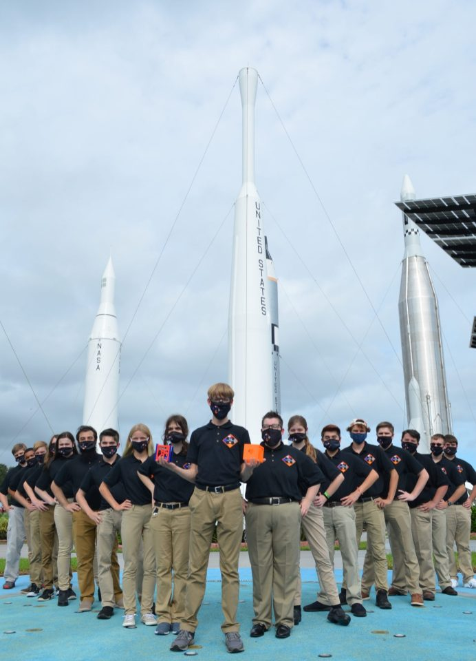 N.C.'s first NASA CubeSat Launch Initiative team formed in Johnston County this past year. Nearly 25 students from local public, charter, home schools, colleges and universities plan to research, build and launch a mini-satellite into space by 2023. Photo by Dunja Nascimento-Wilson