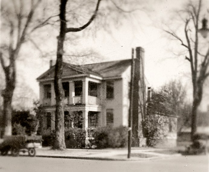 A 1920's photo of the Hasting House when it was located at the northeast corner of Second and Johnston Streets near the courthouse. The Hastings House is now located at the intersection of Front Street and Johnston Streets. Photo courtesy Johnston County Heritage Center.