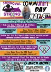 Sandoval Strong Community Day Flyer