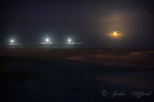 Full Moon by Crest Fishing Pier