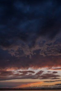 Colorful Stormy Sunset, 12x18 photograph