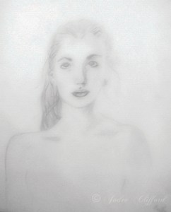 Self portrait, c. 2002, graphite on paper