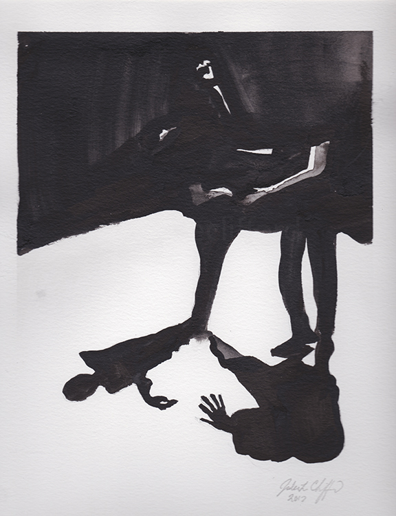 Sold / Dancing in the Dark, Ink on paper, Contemporary Art, Dance Art