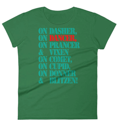 Holiday Dance T-shirt for Swing Swag
