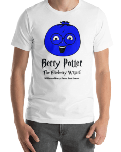 Berry Potter T-Shirt Design for Wildwood Berry Farm