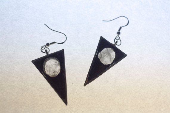 Moon Phase Drop Earrings