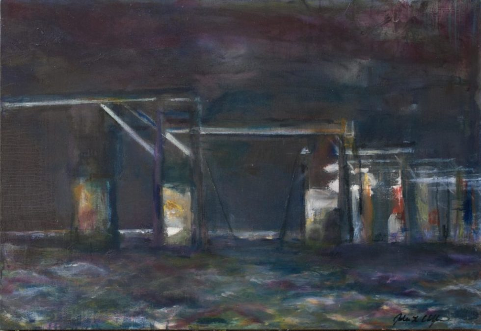 Disconnected, Dismantled Beesleys Point Bridge, 30x40 Oil on Canvas