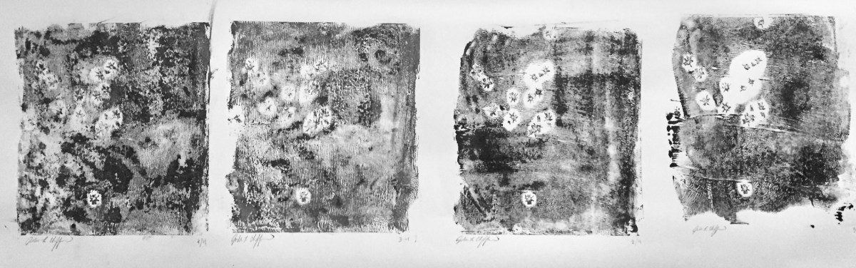 abstract target monoprints