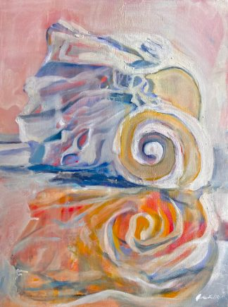 Seashell Oil Painting
