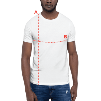 T-shirt Size Guide on Model