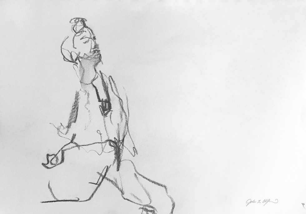 2 min Life Drawing - Arts Garage Art Club life drawing group, March 11, 2021