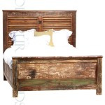 Chunky Bed in Reclaimed Wood   Bed Furniture Manufacturers