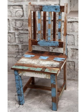 Dining Chair in Reclaimed Wood | Wood Restaurant Chairs For Sale