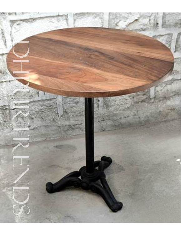 Round Cast Iron Bar Table | Industrial Vintage Furniture