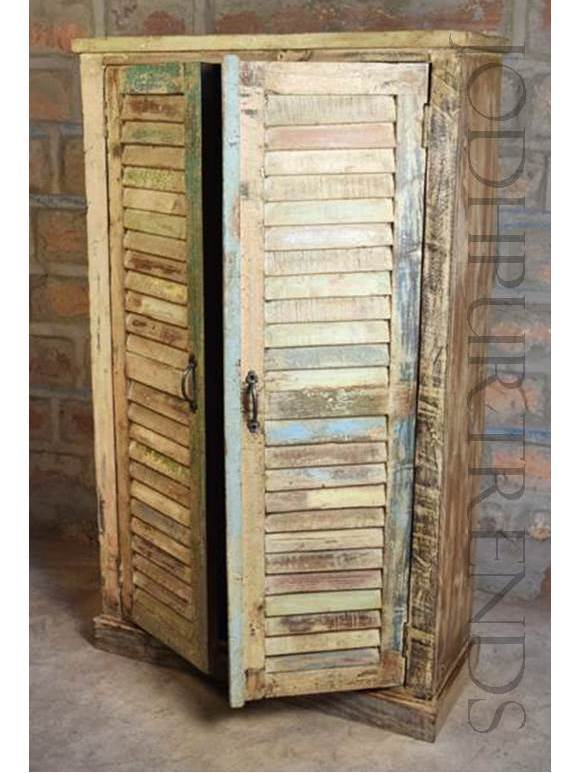 Vintage Wardrobe in Reclaimed Wood | Vintage Wood Furniture