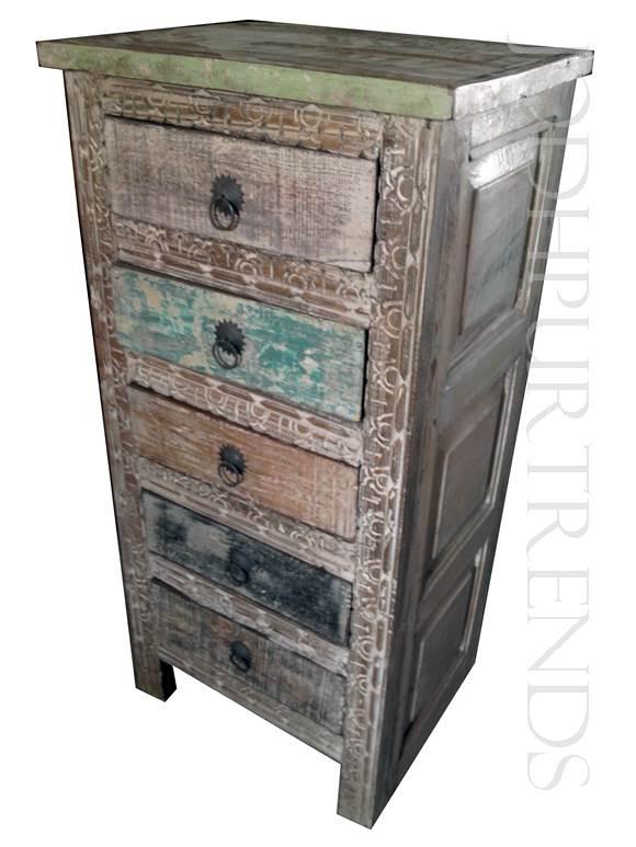 5 Drawer Boho-Style Dresser | Indian Furniture