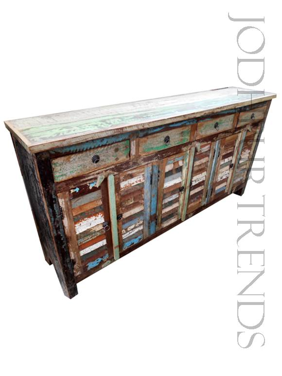 Retro Distressed Sideboard | Furniture From India