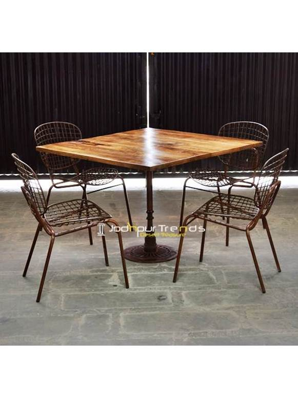 Outdoor Table Set Iron Table Set Restaurant & Bar Furniture Manali Himachal Pradesh