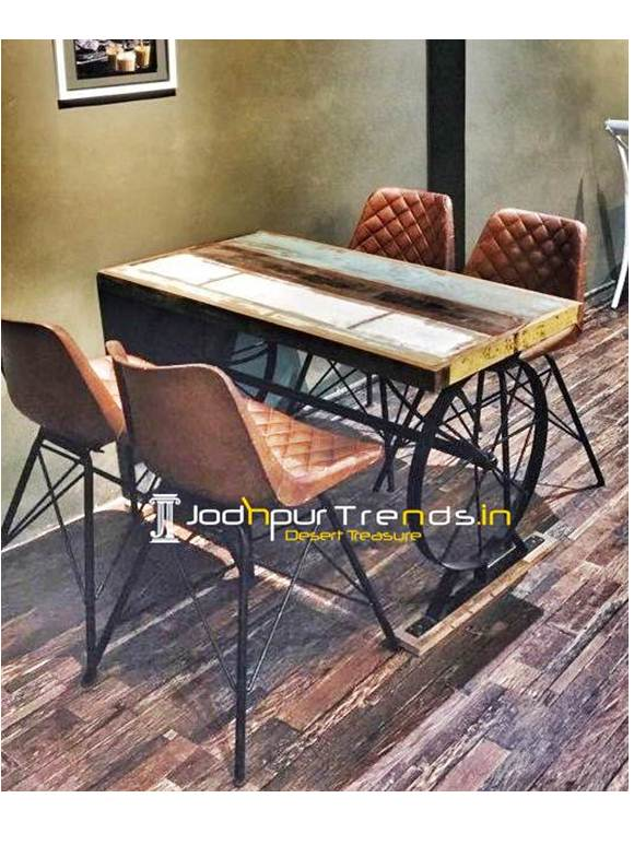 Solid Wood Table Set Acacia Table Set Cafe Furniture Restaurant