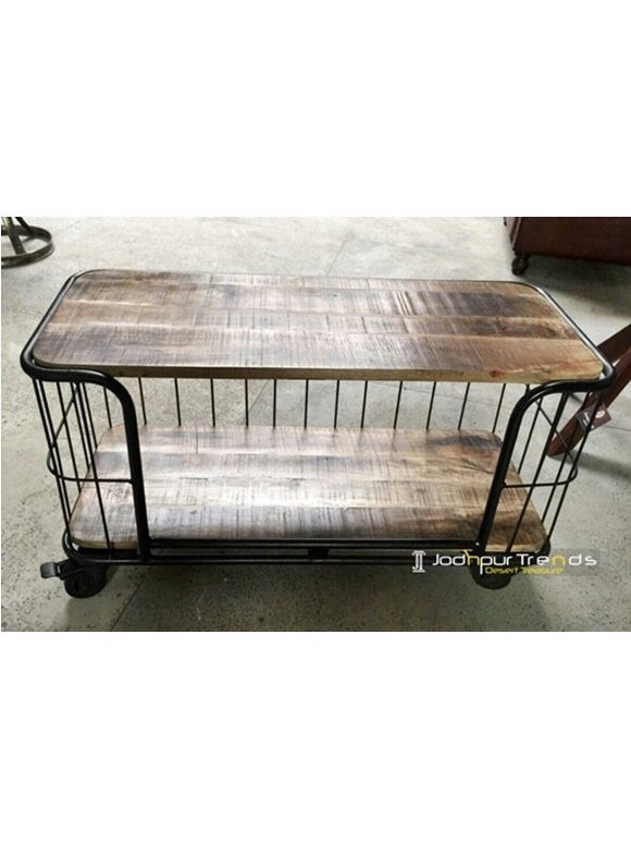 MS Iron Mango Wood Storage Display Unit