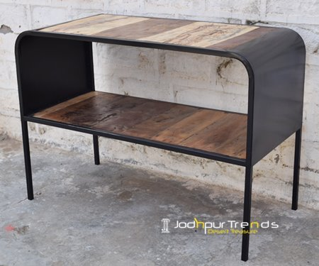 Reclaimed Open Shelves Console Table Furniture