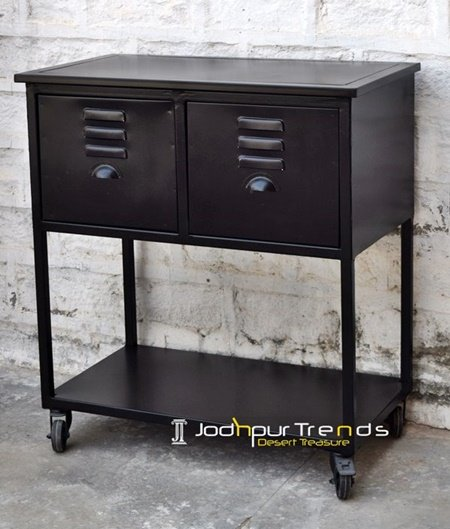 Black Duco Metal Design Console Table Furniture