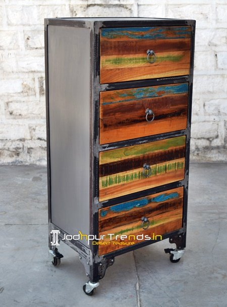 Jodhpur Recycled Wood Long Cabinet Furniture