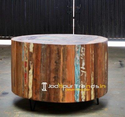 Distress Natural Solid Plank Wood Restaurant Furniture