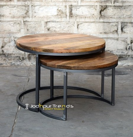Nest of Table Natural Wood Manufacturer Table