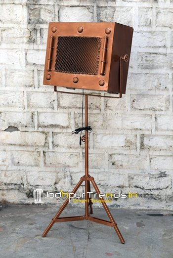 Copper Finish Handcrafted Metal Industrial Lamp