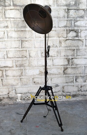 Rustic Indian Industrial Floor Lamp Design