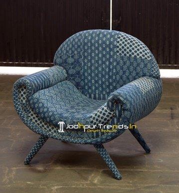 Printed Fabric Indian Traditional Sofa Furniture