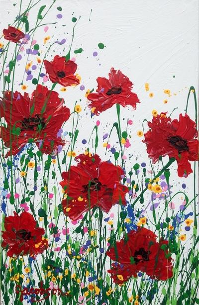 acrylic paintings of texas wildflowers