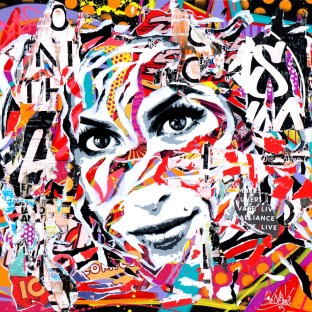 AMY IS SO POP! by Jo Di Bona 2015 100x100 technique mixte sur toile