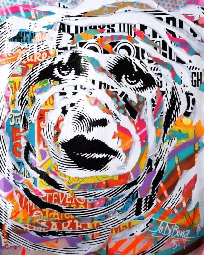 CELEBRITY SKIN by Jo Di Bona 2015 40x50 technique mixte sur carton