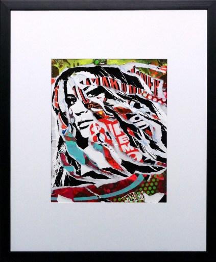 G COMME GISELE by Jo Di Bona 2015 40x50 technique mixte sur papier