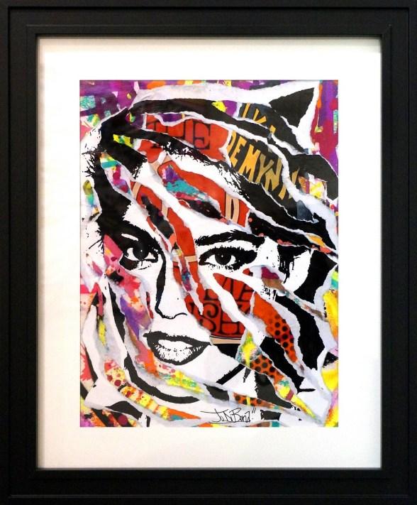 LOVE STREET by Jo Di Bona 2015 40x50 technique mixte sur papier