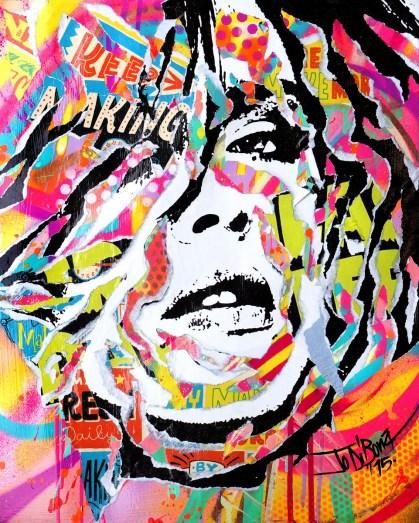 MAKING LOVE by Jo Di Bona 2015 40x50 technique mixte sur carton