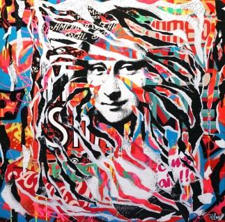 MONA LISA IS SO POP! by Jo Di Bona 2015 100x100 technique mixte sur toile