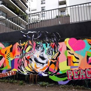 Mur hommage à Charlie aux Frigos, Paris 13