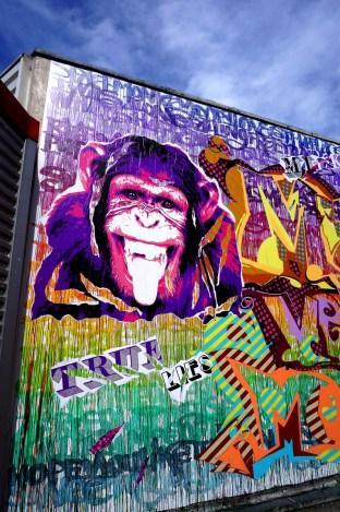 Mur réalisé à la fac de Créteil pour le festival UPAINT