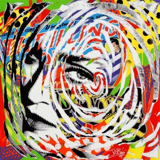 POP MADONNA by Jo Di Bona 2015 100x100 technique mixte sur toile