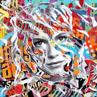 SPECIAL NEEDS by Jo Di Bona 2015 120x120 technique mixte sur toile