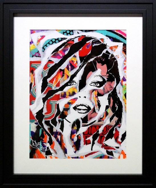 THE LAST SPLASH by Jo Di Bona 2015 40x50 technique mixte sur papier