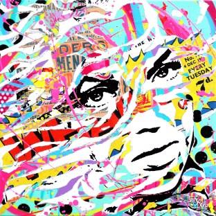 WHAM! by Jo Di Bona 2015 60x60 technique mixte sur toile