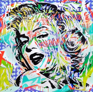 VENOM MARILYN by Jo Di Bona 2016 150x150 technique mixte sur toile