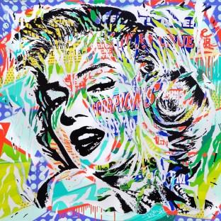 VENOM MARILYN by Jo Di Bona 2016 150x150 technique mixte sur toile
